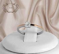 """Кольцо серебряное с золотыми пластинами """"314"""", фото 1"""