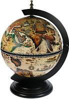 Настольный глобус бар 33002W-B