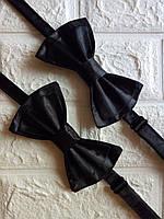 Галстук бабочка черная бантик черный