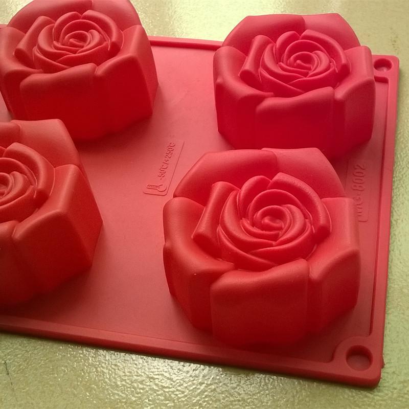 Форма для муссовых десертов Роза 6 шт.