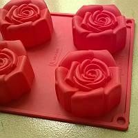 Форма для муссовых десертов Роза 6 шт., фото 1