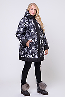 Женская куртка двусторонняя большого размера, с 50-74 размер