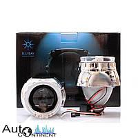 """Автомобильные биксеноновые линзы с ангельскими глазками Blu-ray B25H1 2.5"""" LED АГ"""