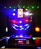 Световой диско прибор шар с лазером и стробоскопом Moving head 3в1 RGBW, фото 4