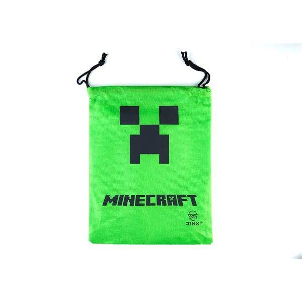"""Подарочный зеленый мешочек Minecraft """"Крипер"""" - 30 см."""