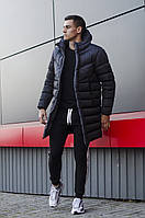 """Мужская куртка-пальто зимняя Pobedov """"Zirka"""" темно синяя"""