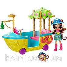 Набор Enchantimals Лодка Джунгли и кукла обезьянка Мерит GFN58