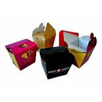 Паста Бокс 400мл,  картон 230г/м2 с печатью (1000 шт в упаковке)