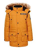 Куртка зимняя на мальчика удлиненная детская подростковая Glo-story рост 146/152