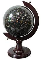 Глобус из Агата и камня Топаз Ночное небо S22001