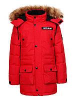 Куртка зимняя на мальчика удлиненная детская подростковая Glo-story рост 140-170