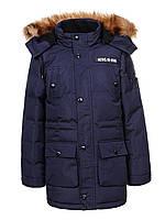 Куртка зимняя на мальчика удлиненная детская подростковая Glo-story рост 146-164