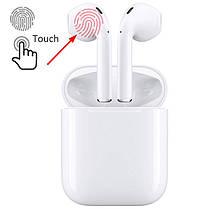 Беспроводные сенсорные Bluetooth 5.0 наушники с зарядным боксом TWS i11 белые, фото 2