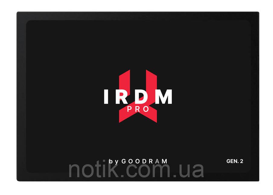 """Твердотельный накопитель 256Gb, Goodram IRDM Pro (Gen.2), SATA3, 2.5"""", 3D TLC, 555/535 MB/s (IRP-SSDPR-S25C-256)"""