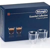 Набор стаканов Delonghi (эспрессо) DLSC300 ESPRESSO (6 шт) 60 ML Стаканы с двойными стенками