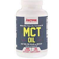 """Масло МСТ, Jarrow Formulas """"MCT Oil"""" триглицериды средней цепи, 1000 мг (180 гелевых капсул)"""