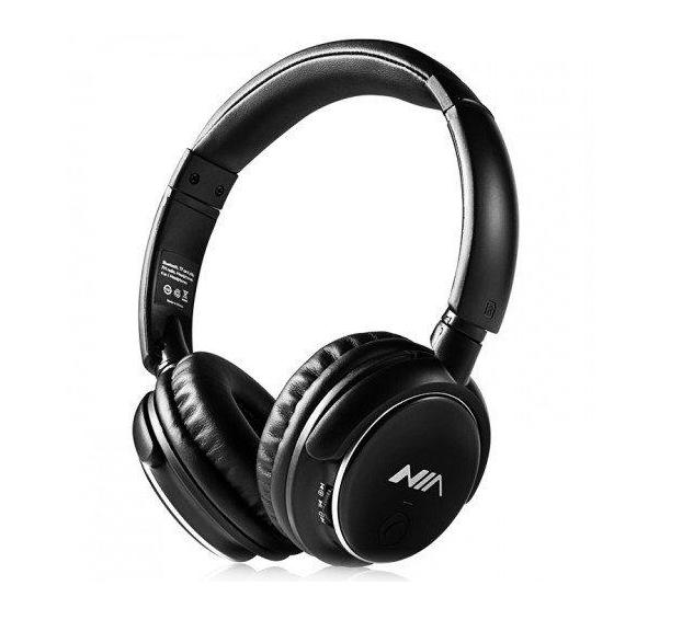 Наушники беспроводные Bluetooth стерео NIA Q1 черные