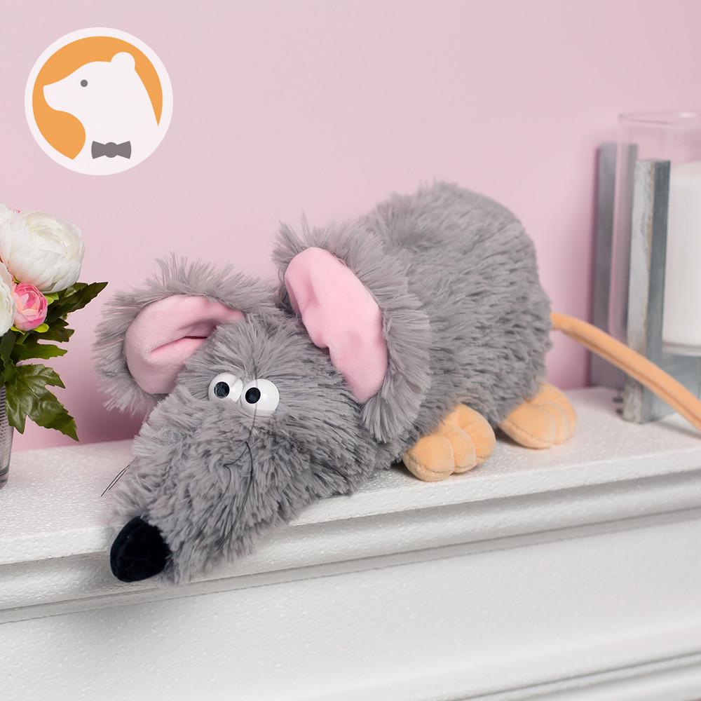 Мягкая игрушка Крыска Рататуй символ 2020 года, серая