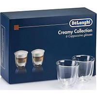Набор стаканов Delonghi DLSC301 Cappuccino (Капучино) (6 шт) 190 ML Стаканы с двойными стенками