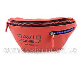 Поясная сумка бананка женская David Jones красного цвета