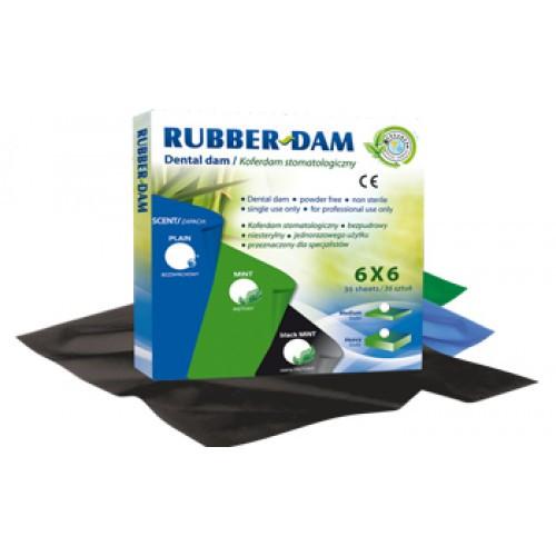 Платки для кофердама Rubber -Dam (РАББЕРДАМ), CERKAMED, зеленые