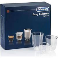 Набор стаканов Delonghi DLSC302 MIX (60/190/220) (6 шт) (Эспрессо,Капучино,Латте) Стаканы с двойными стенками