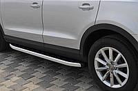 Audi Q5 2008+ и 2012+ гг. Боковые подножки Alliance (2 шт., алюминий)
