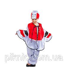 Костюм Снегирь 4,5,6,7,8 лет Детский новогодний карнавальный костюм для мальчиков 342, фото 2
