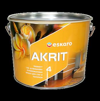 Глубокоматовая краска для стен и потолков Eskaro Akrit 4 0,95 л