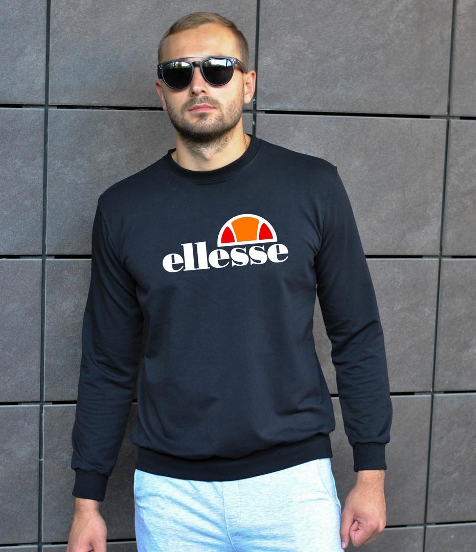 Мужской свитшот черный elesse big logo (копия)