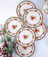 "Набор из 6 тарелок 16 см ""Новогодняя коллекция"" Lefard 924-150"
