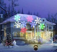 Лазерный новогодний пpоeктоp DISCO LIGHT SHOWER WITH STAND WL 602 Лазер Снежинка Уличное освещение