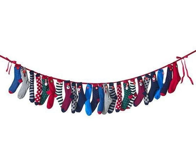 Яркие рождественские носки  от тсм Tchibo (Чибо), Германия, р.35-37