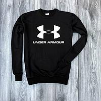 Мужской утепленный свитшот черный Under Armour big logo (копия)