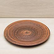 Тарелка 28 см, красная глина