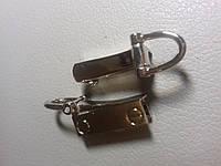 Боковой держатель для карабинов на барсетку, сумку / никель 3 см