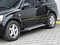 Kia Sorento 2004-2010 гг. Боковые площадки X5-тип (2 шт., алюм.)