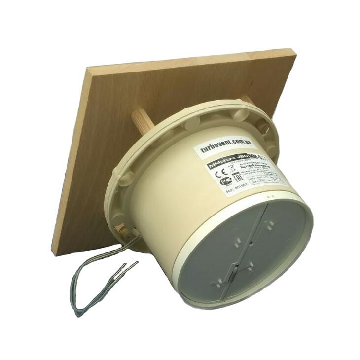 Жаростойкий вентилятор MMotors MM 100-S +140C для саун, бань с квадратной панелью и обратным клапаном