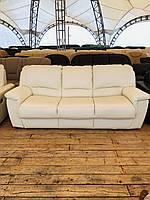 Кожаный диван раскладной с креслом «Double Green»