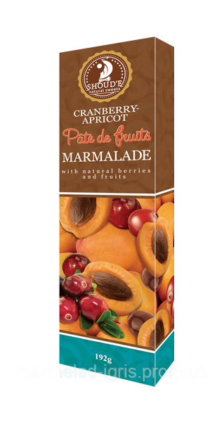 Натуральный мармелад  абрикос клюква