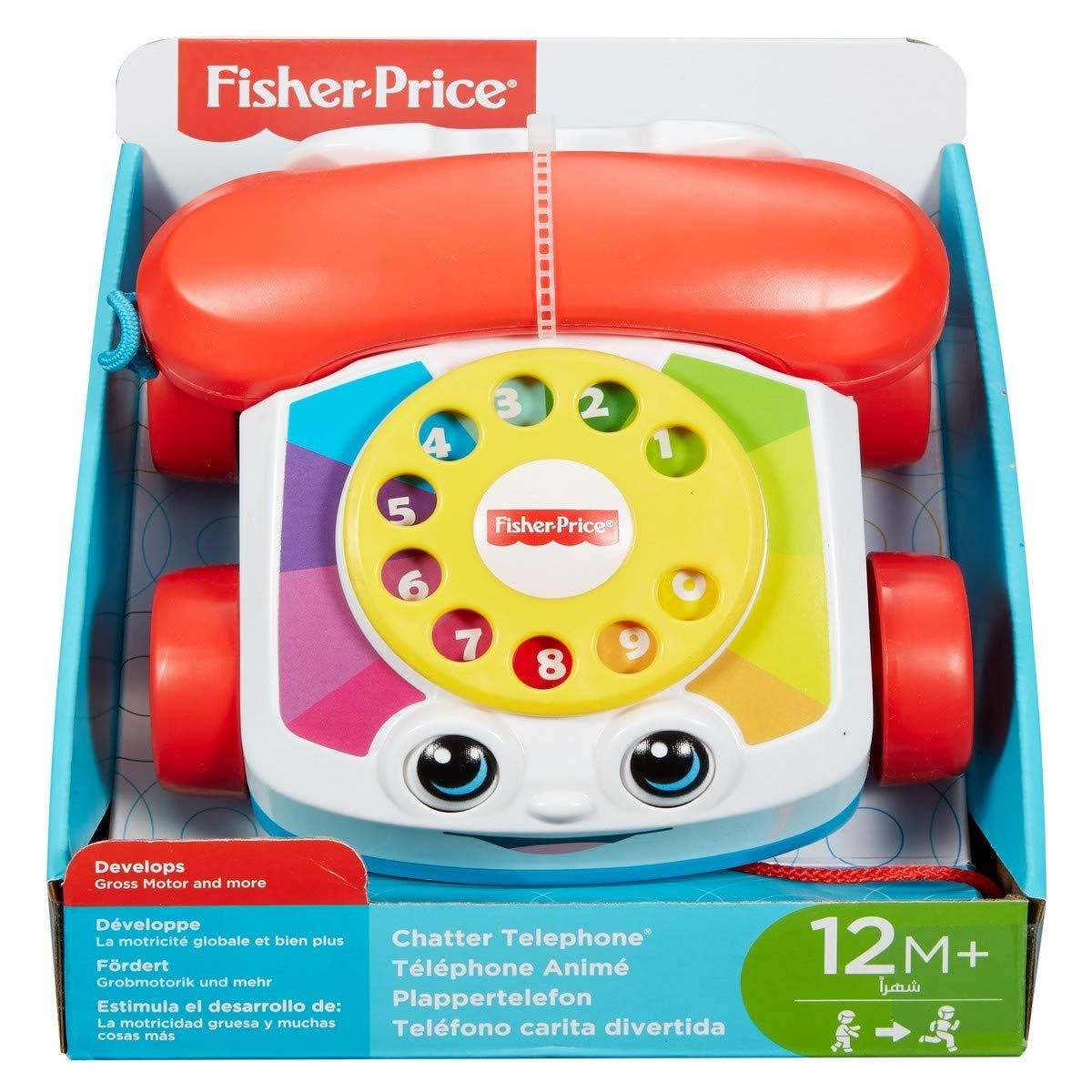 Развивающая игрушка - каталка Веселый телефон Fisher-Price