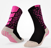 Спортивные высокие носки для футбола, баскетбола Lingtu для мужчин (черно-розовый), фото 1