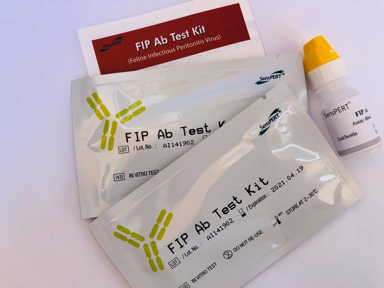 Експрес-тест Інфекційний перитоніт котів (Коронавірус котів) (FIP(FCoV) Ab Test), 1шт