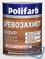 Алкидный цветной лак Древозахист Лазурь 2.2 кг Полифарб (Polifarb)