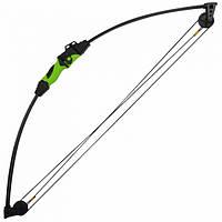 Лук Man Kung CB015 (длина: 860мм, сила натяжения: 5,6кг), черный/зеленый, комплект