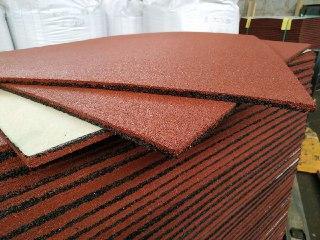 Резиновая плитка для спортзалов 100х100x1000 мм., фото 1