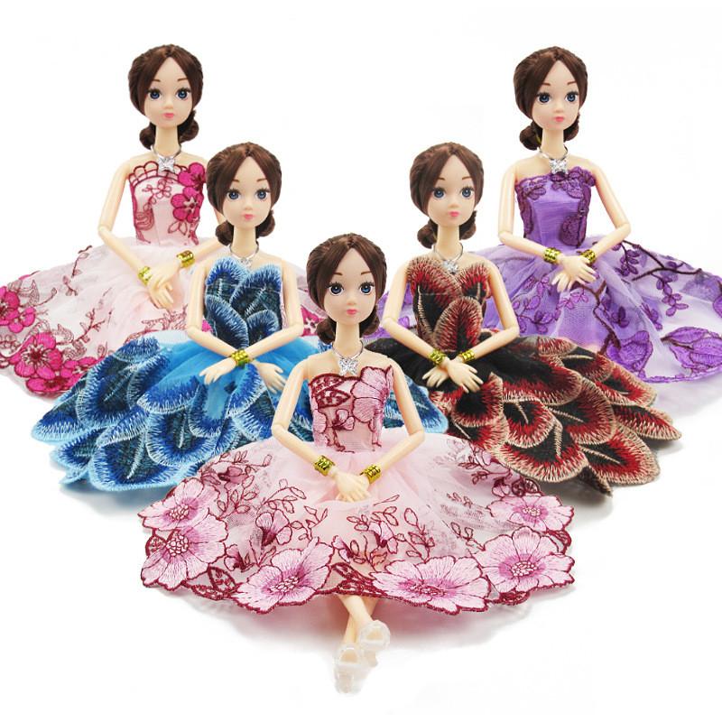 Рухома (шарнірна) bjd автора лялька лялька в квітковому плаття