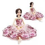 Рухома (шарнірна) bjd автора лялька лялька в квітковому плаття, фото 2