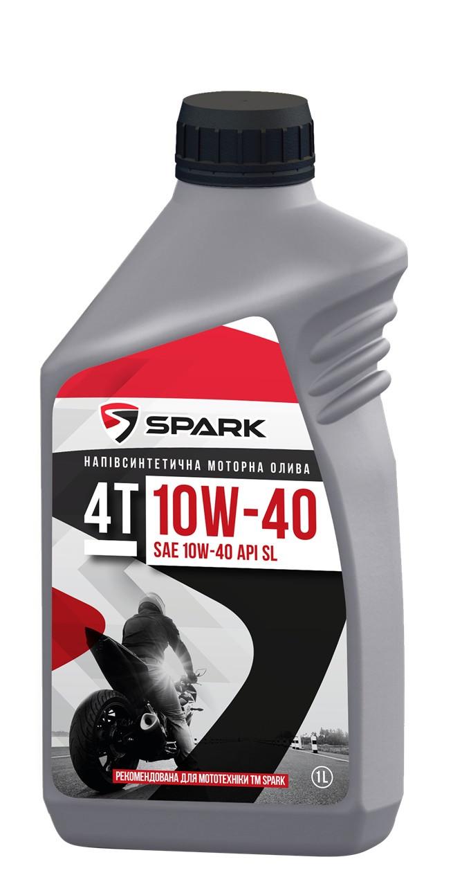 Полусинтетическое моторное масло SPARK 4T 10W-40  API SL