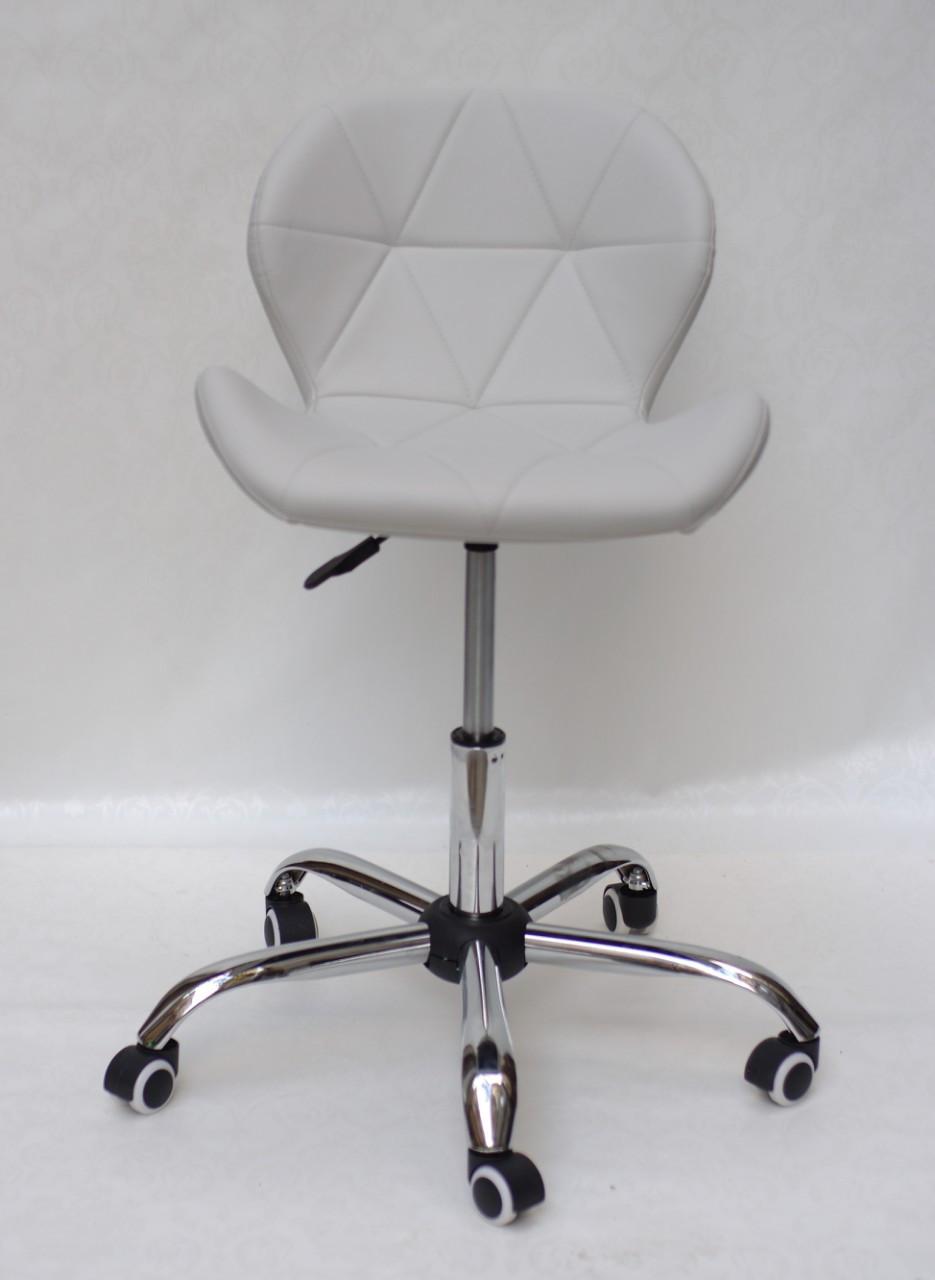 Кресло мастера маникюра Invar Office (Инвар) ЭкоКожа светло- серый 10